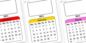Editable 2014 Flip Calendar - editable, calendar, editable calendar, 2014 calendar, flip calendar, editable, new year, next year calendar, dates, weeks