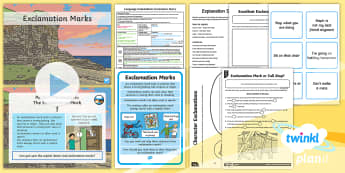 PlanIt Y1 Language Conventions: Exclamation Marks Lesson Pack - Australia, Spelling, Punctuation, Grammar, activity sheets, lesson plan, PowerPoint, display posters