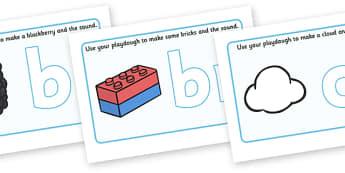 Letter Blends Playdough Mats - education, home school, child development, children activities, free, kids, worksheets, how to write, literacy