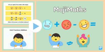 UKS2 MojiMaths PowerPoint - Mathemoji, Solvemoji, Emoticon, Emoji, Algebra