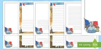 The French Revolution Page Border Pack - french, france, revolution, Napolean