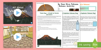 Volcano Theme Day Activity Pack - days in, holidays, parents, family, home
