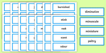 Synonyms Card Sorting Game - games, activity, activities, sort