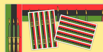 Kwanzaa Display Borders - kwanzaa, african american, usa, america, display border, display, border