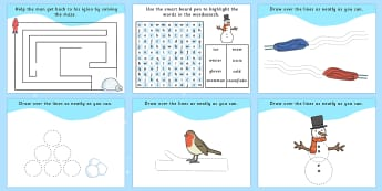 Winter Activity Pack IWB - winter, christmas, activity, pack, xmas