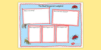 Book Review Writing Frame to Support Teaching on The Bad Tempered Ladybird - story books