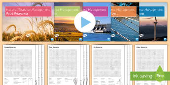 The Challenge of Natural Resource Management: Activity Pack  - The Challenge of Natural Resources, geography, aqa, gcse