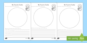 My Favourite Cookie Writing Activity Sheet   - Opinion, Persuasive, Writing, Best Cookie, Cookie,
