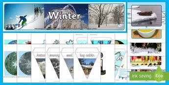 Winter Display Pack - Winter, Season, December, January, February, Snow, Activity Co-ordinators, Support, Ideas, Elderly C