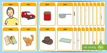 CVC Words Flashcards - CVC Words Flashcards - cvc, flashcard, phonics, phoneme, letters and sounds, Dfe, phase 2, phase 3,