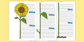 Flower Height Chart - Height chart, height display, measuring chart, measure, child height, flower chart, flower display, tall, short
