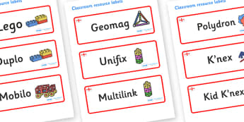 England Themed Editable Construction Area Resource Labels - Themed Construction resource labels, Label template, Resource Label, Name Labels, Editable Labels, Drawer Labels, KS1 Labels, Foundation Labels, Foundation Stage Labels