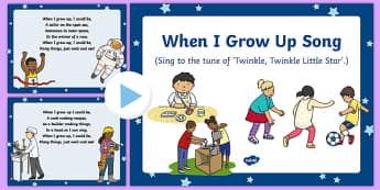 When I Grow Up Song PowerPoint