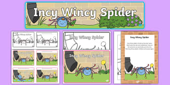 Incy Wincy Spider Resource Pack - incy wincy spider, resource pack, pack of resources, themed resource pack, incy wincy spider pack, nursery rhymes