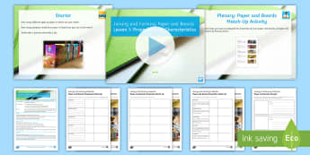 Manufacturing Processes and Techniques - Joining and Forming Paper and Boards: L1 Properties and Characteristics Lesson Pack - Key Stage 4 Design & technologydesign processGCSE design & technologydesign projectiterative designp
