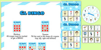 GL Spinner Bingo -speech sounds, phonology, articulation, speech therapy, cluster reduction, clusters, blends