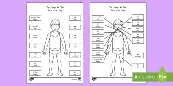 Parts of the Body Display Poster Niuean/English - niue, niuean language week, languages, pasifika, parts of the body