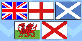 Our Country UK Flags Display Posters A4 - country, uk, flags