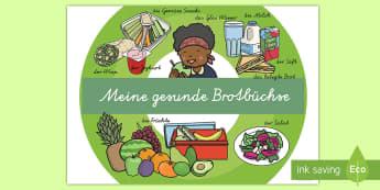 Meine gesunde Brotbüchse Poster für die Klassenraumgestaltung - Meine gesunde Brotbüchse, gesunde Brotbüchse, gesunde Nahrung, gesunde Ernährung, gesunde Mahlzei