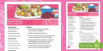 Easy Diwali Sweets Recipe Afrikaans/Enligsh - Celebration, eat, treats, make, fees, maak, EAL