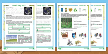Earth Day Differentiated Go Respond Activity Sheets English/Portuguese - KS2, Earth Day, reading, comprehension, understand, environment, climate change, recycling, global i