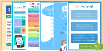 Say No to Bullying Teaching Resource Pack - bullying, resource pack, mental health, emotional health, posters