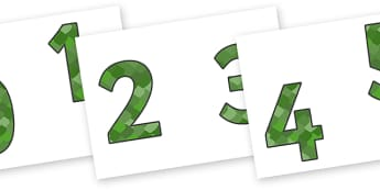 0-9 Display Numbers (Reptile Skin) - Display numbers, 0-9, numbers, reptile, skin, display numerals, display lettering, display numbers, display, cut out lettering, lettering for display, display numbers