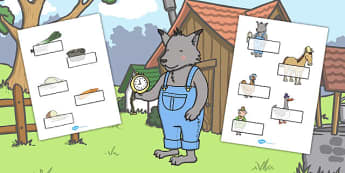 Editable Self Registration to Support Teaching on What's The Time, Mr Wolf? - labels
