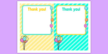 Birthday Party Thank You Cards - 1st birthday party, 1st birthday, new parents, birthday party, birthday, party, thank you cards