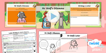 Traditional Tales: Little Red Riding Hood: Letter Writing 1 Y1 Lesson Pack  - Traditional stories, fairytales, fairy tales, fairy stories, familiar stories