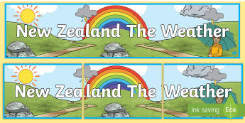 New Zealand The Weather Display Banner - waether,weathe,wetaher,weaher,weatherdisplay,WHEATHER,abnner, NZ