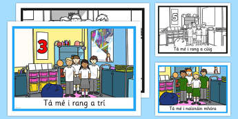 What Class Am I In Display Posters Gaeilge - what, class, display posters, display, posters