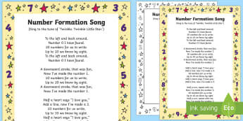 Number Formation Song - Maths, numbers, numeracy, numeral, number pictures, singing, song time