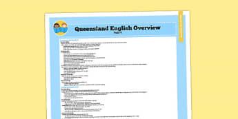 Queensland Curriculum Year 4 English Literacy Syllabus Overview - australia