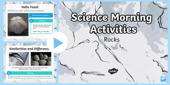 Year 3 Early Morning Activities Rocks - geography, activities