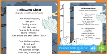 Halloween Ghost Song - EYFS Halloween, witches, wizards, magic spell, Hallowe'en, All Hallows Eve, All Saints Day, All Sou