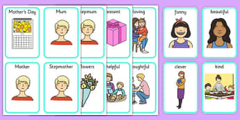 Mother's Day Playing Cards - ESL Mother's Day Card Game