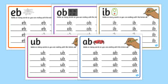 b Rime Mats - rime, cards, rhyme, words, activity, word, card, b