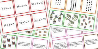 Times and Divide Card Games x3 - times, divide, card, games
