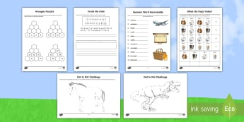 KS2 Summer Fun in the Holidays: Going on a Journey Activity Pack - planes, airport, plane journey, trip, long journey, puzzles, games, colouring, mindfulness