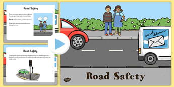 EYFS Road Safety PowerPoint - eyfs, road safety, powerpoint, road, safety