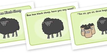 Baa Baa Black Sheep Sequencing - Baa Baa Black Sheep, nursery rhyme, rhyme, rhyming, nursery rhyme story, nursery rhymes, Baa Baa Black Sheep resources, master, dame, sequencing