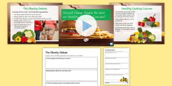 Should Obese People Be Sent on Healthy Cooking Courses? Debate Pack - obesity, health, food, overweight, ks3, form period, discussions