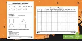 Halloween Maths Assessment Pack - Back to School, Junior Infants, maths, halloween, assessment, results, numeracy, EMA, tracker,Irish