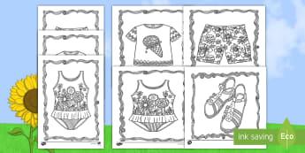 Coloriages anti-stress : Les vêtements d'été - coloriages anti-stress, anti-stress, coloriages, saisons, vacances, été, plage, l'été, Adult Mi - coloriages anti-stress, anti-stress, coloriages, saisons, vacances, été, plage, l'été, Adult Mi