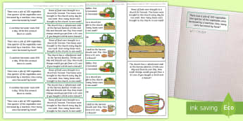 Harvest-Themed Maths Challenge Sticky Avery Labels - Maths, Problems, Word Problems, KS1, Key Stage One, Scenario, Challenges, Stickers