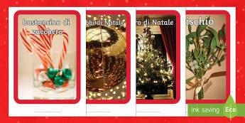 Italian foto display di Natale - foto display, natale, parole chiave, plastificare, buone feste, feste, albero di natale, decorazioni