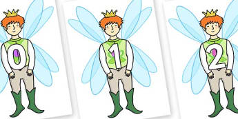 Numbers 0-50 on Fairy Prince - 0-50, foundation stage numeracy, Number recognition, Number flashcards, counting, number frieze, Display numbers, number posters