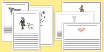 Calf Club Writing Frames