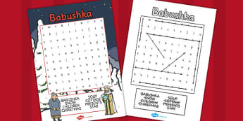 Babushka Wordsearch - babushka, wordsearch, words, activity